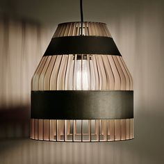 Montreal based Jonathan Dorthe and his 'Lath Lamps' for Atelier-D.