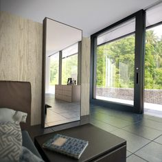 Modern bedroom mirror designs are problem-solvers as much as they are decor accents. Making them a part of the interior is pure pleasure. Furniture, Room, Home, Contemporary Full Length Mirrors, Bedroom Mirror, Contemporary Accent Chair, Modern, Contemporary Bedroom, Modern Bedroom