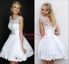 2014 Promotional Cheap Price Short Prom Dresses Mini Pearls Homecoming Party Dresses For Girls Appliqued Cocktail Dress CPS068 $99.98