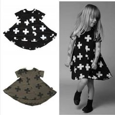2015 nununu plus 360 dress cross printed dress/children clothing bos./vetement fille