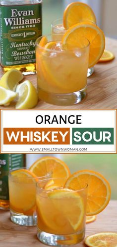 Orange Whiskey Sour is a delicious holiday cocktail recipe for a crowd! This holiday drink can be put together in about five minutes flat and are relatively inexpensive. Save this pin for your Christmas or New Year's eve parties! Cocktail Recipes For A Crowd, Food For A Crowd, Brunch Recipes, Drink Recipes, Alcohol Recipes, Appetizer Recipes, Appetizers, Sour Cocktail, Bellini Cocktail