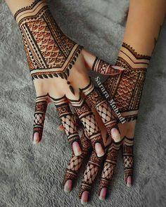For the love of henna . tag a henna artist Henna Hand Designs, Mehndi Art Designs, Beautiful Henna Designs, Mehndi Images, Henna Tattoo Designs, Henna Tattoos, Tribal Henna Designs, Tatoos, Indian Henna