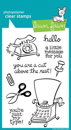 Lawn Fawn - Clear Acrylic Stamps - Just My Type