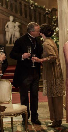 You Had Me at Downton…and I'm 100% exited for Christmas again ..Robert and Cora Downton Abbey Christmas Special 2015..