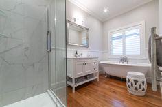 White bathroom waterproof shutters by Norman