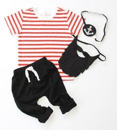 Kid's Pirate Costume // June & January Kid's Basic Tee + Opposite Of Far Pirate Beard