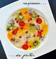 fruit carpaccio- fruit salad