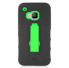 EGC Rugged Symbiosis Kickstand HTC One M9 Case - Black/Green