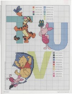 Pooh alphabet 7