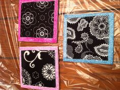 Coasters  from old Thirty One fabric swatches!  :)