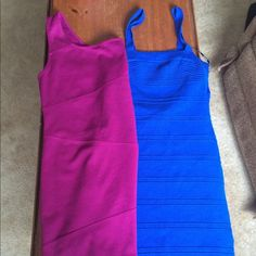 Forever 21 dresses! Party dresses! Blue has been worn once! The magenta has never been worn. Excellent condition! Forever 21 Dresses Mini