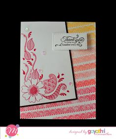 We are so glad to introduce our another add to our Creative Team - Gayatri Viswanathan . Craft Stamps, Card Making Inspiration, Creative, Cards, Color, Design, Ideas, Colour