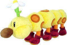 """Nintendo Official Super Mario Plush 11"""" Wiggler/HanaChan"""