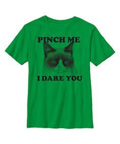 Green Grumpy Cat 'Pinch Me' Tee - Youth