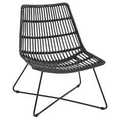 Loungestoel rotan zwart tuinstoelen tuin gamma with for Kuipstoel voor buiten