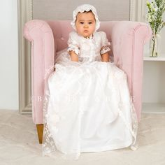 66.75$  Buy now - http://aliiz6.worldwells.pw/go.php?t=32709514375 - 0-2 Years Stunning Custom Made Lovely White Ivory Lace Baby Clothing Dress Hat Long Lace Infant Girls Christening Gown 0-12 Y 66.75$