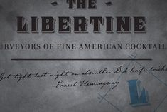 The Libertine, a new cock­tail bar in Indianapolis.