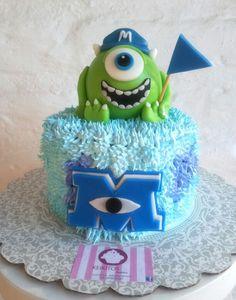 Monster University Cakes, Monster University Birthday, Monster Inc Cakes, Monster 1st Birthdays, Monster Inc Party, Monster Birthday Parties, Birthday Party Themes, First Birthdays, Monsters Inc Baby Shower