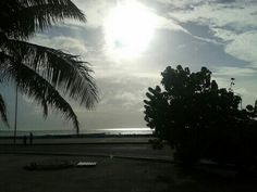 Morning bright sun seen from Henveiru Park