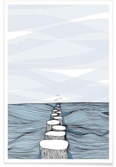 Something Calm as Premium Poster by Waltraud Rieken | JUNIQE