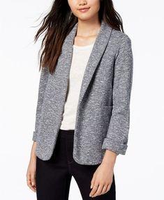 a9f7ae5e36 Maison Jules Marled Knit Blazer Blue Notte XL. Knit BlazerKnit JacketSweater  And ShortsLeather JacketBlazer Jackets For WomenParty DressesDesigning ...