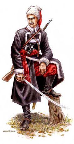 Sotnik pułku Kozaków Zaporoskich, 1920 Poland | ^ https://de.pinterest.com/radekstrojecki/russian-civil-war-white-guard-the-last-crusaders/
