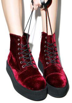 T.U.K. Velvet Creeper Boots   Dolls Kill