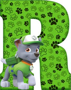 *✿**✿*R*✿**✿*DE ALFABETO DECORATIVO Paw Patrol Rescue, Paw Patrol Rocky, Paw Patrol Cake, Paw Patrol Party, Paw Patrol Birthday, Dog Themed Parties, Cumple Paw Patrol, Minnie Mouse Pink, Disney Figurines