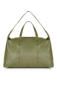 Large Leather Luggage Bag