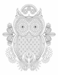 Advanced coloring owl page Owl Crochet Patterns, Owl Patterns, Quilling Patterns, Crochet Motif, Embroidery Patterns, Owl Coloring Pages, Coloring Pages For Grown Ups, Printable Adult Coloring Pages, Coloring Books