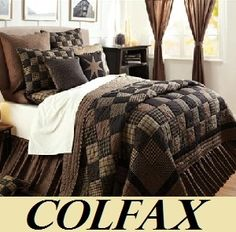"""""""Colfax"""" country bedding from Olivia's Heartland King Comforter Sets, Bedding Sets, Primitive Bedding, Primitive Quilts, Primitive Homes, Primitive Antiques, Country Bedding, Bedroom Country, Country Quilts"""