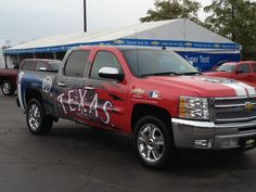 Texas Rangers truck at the State Fair of Texas.  taken 10.10.12