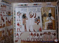 tomb of Menna, a scribe who lived in ancient Egypt - (TT69) is located in the necropolis of Sheikh Abd el-Qurna.