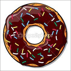 Ilustración de dibujos animados donut.