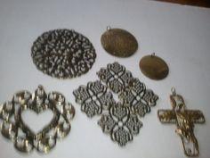2 brass medallions