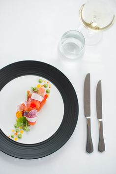 Waterkloof: lime cured trout, satsuma gel, spinach custard, radish remoulade