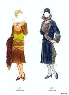 Great Fashion Designs of the Twenties Paper Dolls by Tom Tierney - Nagy Divattervezők 1920-as évek - Nena bonecas de papel - Picasa Albums Web