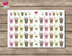Starbucks Frozen Drink Doodles Stickers Planner por SandiaStickers