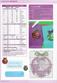 Cross-stitch Christmas Ornaments, part 3.. with the color chart...    Gallery.ru / Photo # 4 - 4 - irinika