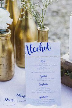 Maritim Heiraten in Gold und Blau | Hochzeitsblog The Little Wedding Corner