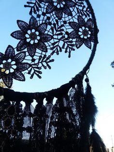 HANDMADE BLACK BEAUTY GYPSY GOTHIC DREAM CATCHER BOHEMIAN WALL HANGING DECOR