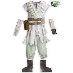 Rey costume ideas for Halloween. Make your own Star Wars Rey costume with these DIY costume instructions and ideas. Find out how to put together a costume from clothes you have, find cheap accessori (Cheap Diy Costume) Star Wars Birthday, Star Wars Party, Halloween Kostüm, Halloween Costumes For Kids, Children Costumes, Dress Up Costumes, Cosplay Costumes, Costume Ideas, Rey Kostüm Diy