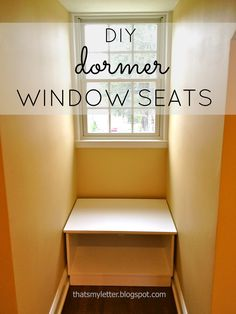 "That's My Letter: ""D"" is for Dormer Window Seats, open base bench"