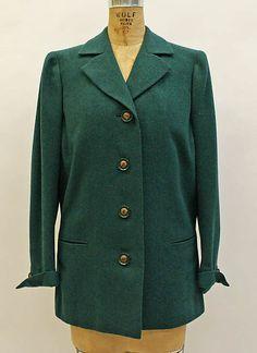 Mainbocher   Coat   American  1946  Wool, rayon