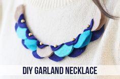 diy felt garland necklace