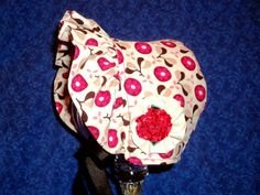 Corduroy Baby Bonnet with Fleece by AdorableandCute on Etsy, $25.00