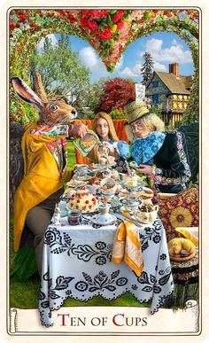 Mad Hatter's Tea Party ~ Tarot card illustration from Baba Studios @ Baba-store.com
