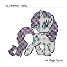 My Little Pony Rarity Inspired PDF Cross par CraftyCompanion