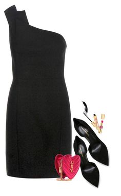 """""""YSL /LBD"""" by hollowpoint-smile ❤ liked on Polyvore featuring Yves Saint Laurent"""