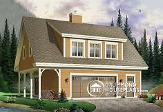 House plan W3935 by drummondhouseplans.com Have been toying with the idea of a flat on top of a garage, only turning the garage into some useful space.
